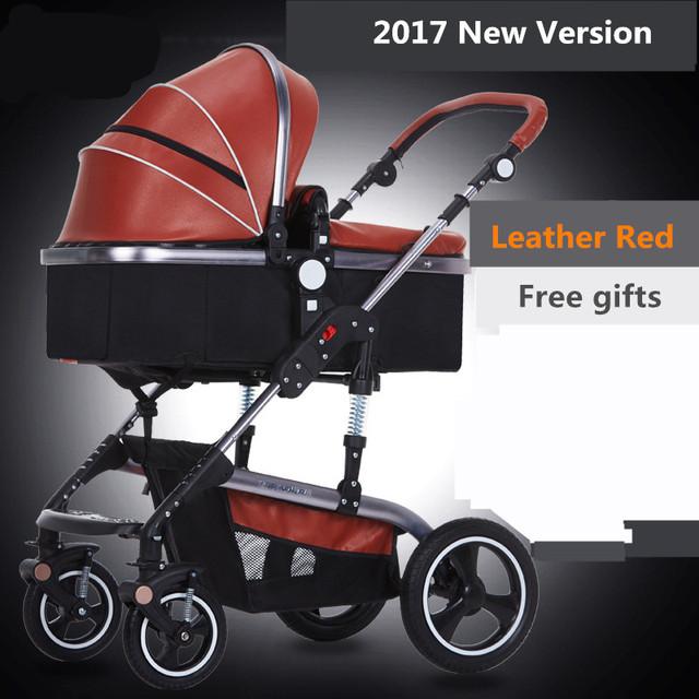 0-36 meses de bebê 2 em 1 carrinho de bebê Bora dobrar quatro bebê quatro estações geral-choque roda absorvedores de carrinho de criança