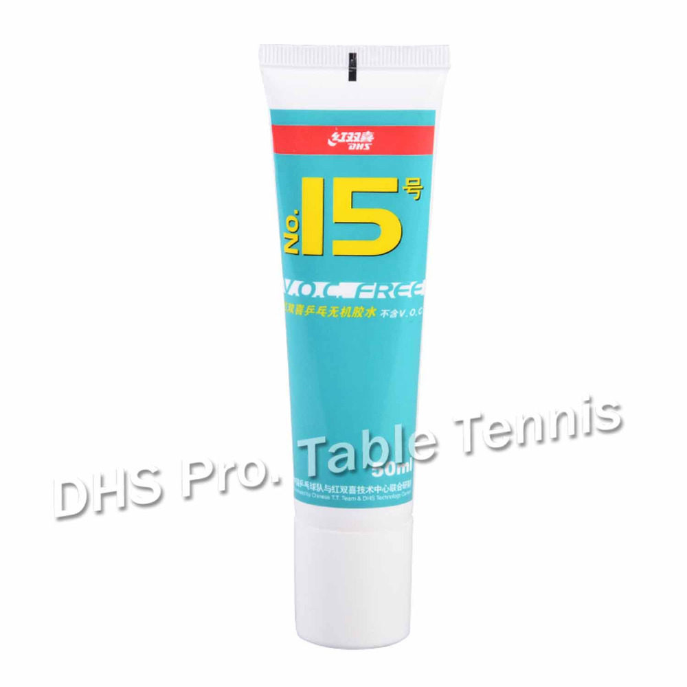 DHS No.15 Glue 50ml Water Glue For Table Tennis Racket Ping Pong Accessories ITTF Approved NO-V.O.C