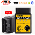 mini ELM327 Bluetooth V1.5 OBDII OBD2 ELM 327 Car detector Diagnostic Tool OBD 2 Scan Tools Auto Car Diagnostic Scanner