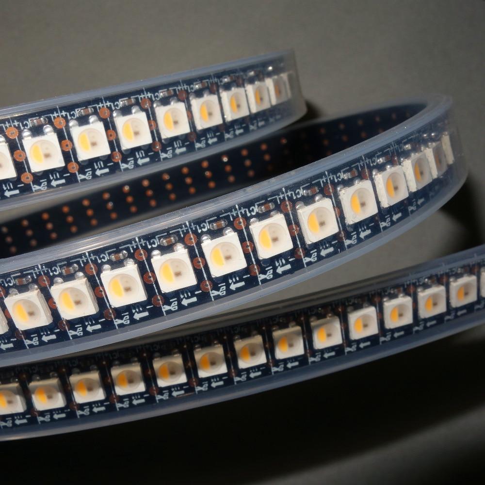 SK6812-RGBW(warm white) led addressable strip;144leds/m with 144pixels/m;waterproof in silicon tube;2m long;DC5V input;BLACK PCB чайник sinbo sk 7315 white