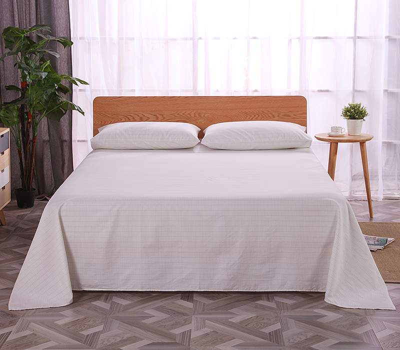Grounded earthing Flat Sheet Full 82 5x102 Inch 210 260cm Not included pillow case EMF protection