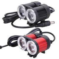 6000lm 2x CREE T6 White LED Waterproof Aluminum Alloy Front Bicycle Light Bike Headlamp Headlight Lamp