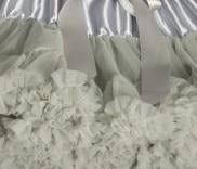 Пышная юбка для малышей Мягкая шифоновая Пышная юбка-пачка для малышей Юбка-пачка для маленьких девочек детская одежда юбка-пачка для новорожденных - Цвет: Серебристый