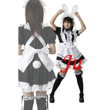 Free Shipping Sexy Sissy Maid Cotton Dress Uniform Cosplay Costume Tailor-made