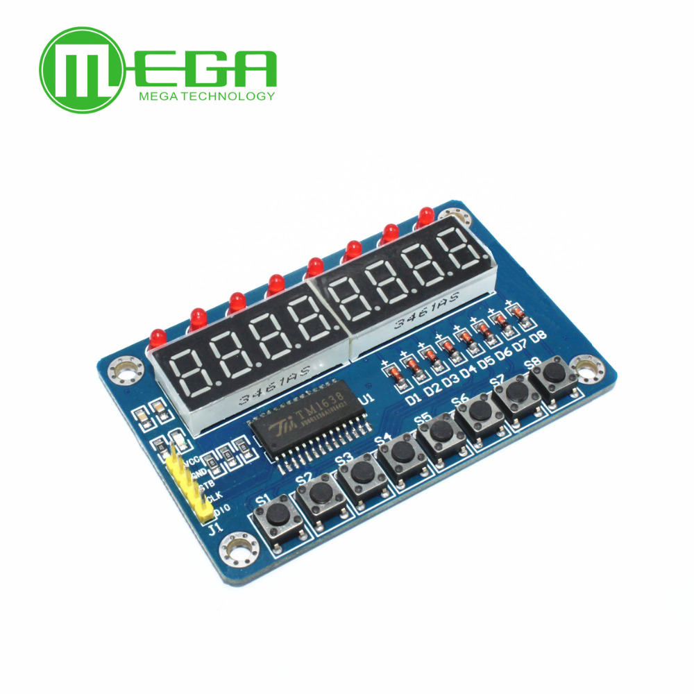 B401 Free Shipping 1pcs TM1638 Module Key Display For Arduino New 8-Bit Digital LED Tube 8-Bit new original in stock