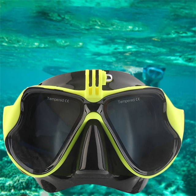 Professional Underwater Camera Diving Mask Scuba Snorkel Swimming Goggles For GoPro Sports P20