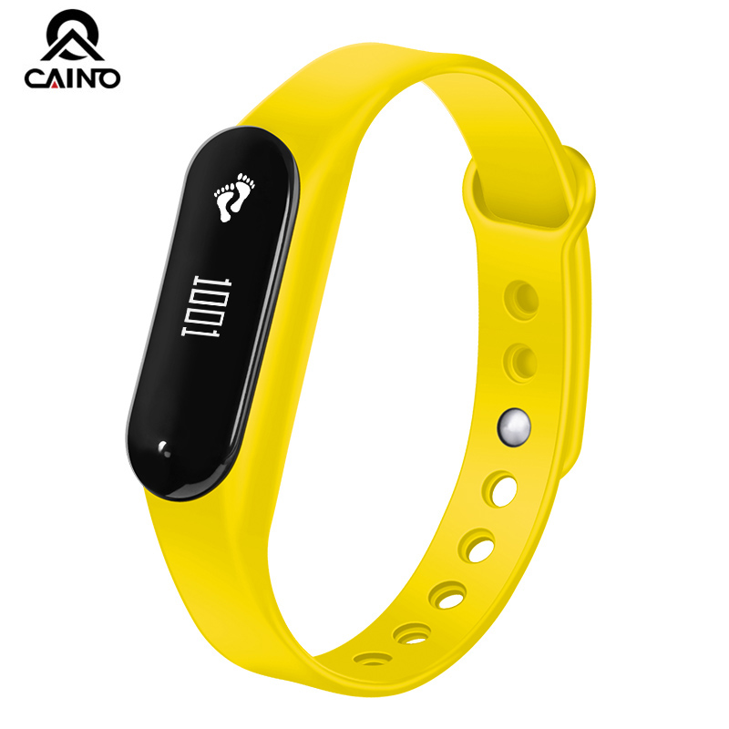 CAINO Heart Rate Monitor Sleep Tracker Smart watch Bluetooth  Touch Screen Smart Bracelet Fitness Waterproof Sports watches sports fitness tracker smart watch bracelet i7 bluetooth 4 0 wristband waterproof health heart rate monitor