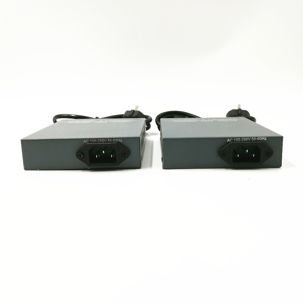 1 쌍 HTB-GS-03 A / B 기가비트 광섬유 미디어 컨버터 - 통신 장비 - 사진 2