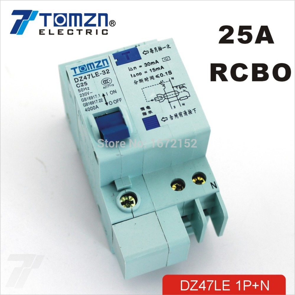 DZ47LE 1P+N 25A C type 230V~ 50HZ/60HZ Residual current Circuit breaker with over current and Leakage protection RCBO органик шоп carrot organic био бальзам для волос морковный супер укрепляющий 250мл