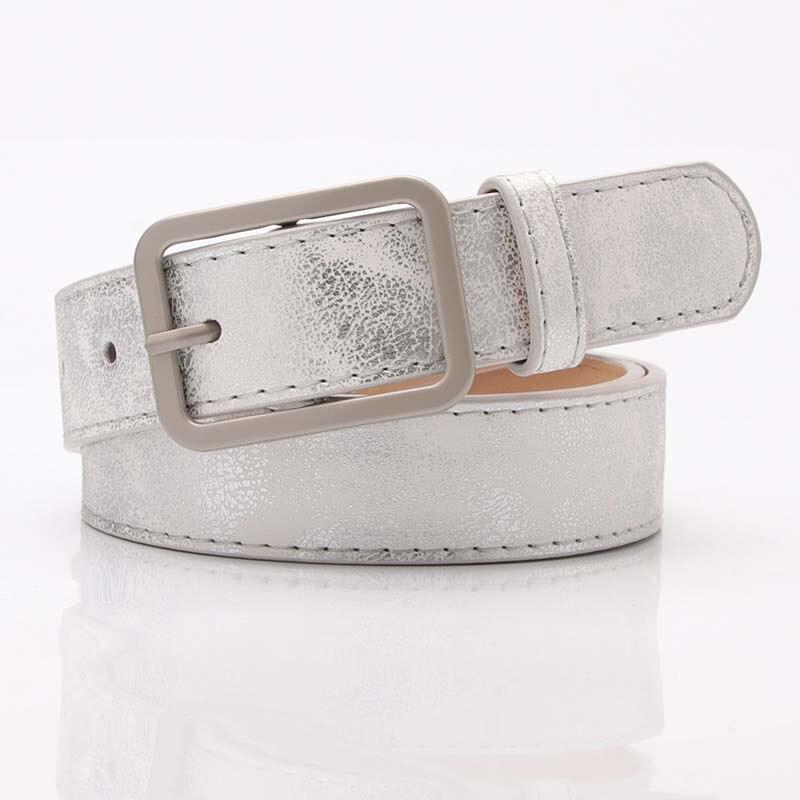 New women's Korean version of the wild   belt   alloy Japanese word pin buckle shiny pu face tide pants   belt