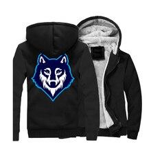 Animal Wolf Mens Hoodies 2019 Winter Warm Long Sleeve Hooded Men Plus Size Casual Jackets Hip Hop Swag Sweatshirts CM01