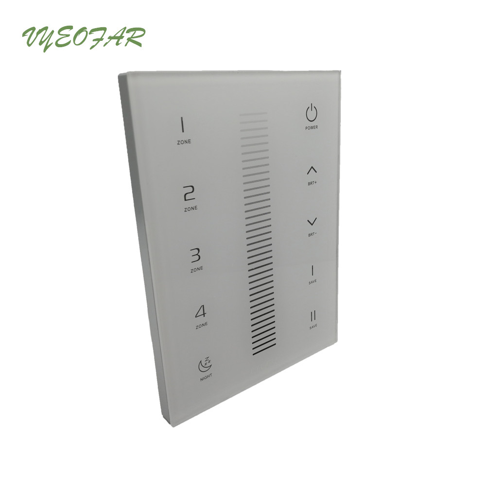 Led Dimmer Controller UX5 Glass Touch Panel RF 2.4GHz DMX512 Dimming Multi-zone 4 Zone RF V5 Remote R4-5A R4-CC R4-3A Receiver 2 4ghz dmx512 ex2 led color temperature touch panel dimmer control for led strip lamp ltech ac100v 240v wireless receiver f4 5a