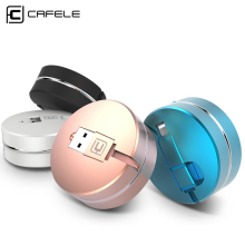 CAFELE Original 2 in 1 retractable USB charging Cable For iPhone 7 6s plus 5s SE micro for android Samsung S6 S7 xiaomi huawei