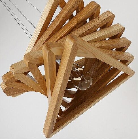 Креативный дизайн света спиральные кулон из светлого дерева столовая подвесные светильники деревянный простое приспособление освещения г...