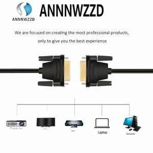 Image 4 - DVI D 24 + 1 double lien mâle à mâle câble vidéo numérique plaqué or avec Support 2560x1600 pour jeu, DVD, ordinateur portable