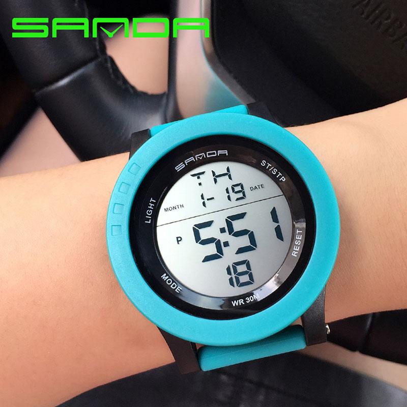Prix pour Sanda marque 2017 led numérique montre femmes montres dames sport montre-bracelet électronique horloge femme montre femme relogio feminino