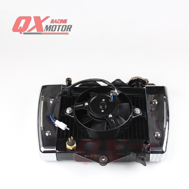 NEW 200cc 250CC Water cooling engine cooler Radiator cooling 12v fan for motorcycle moto Quad 4x4 ATV UTV parts personal computer graphics cards fan cooler replacements fit for pc graphics cards cooling fan 12v 0 1a graphic fan