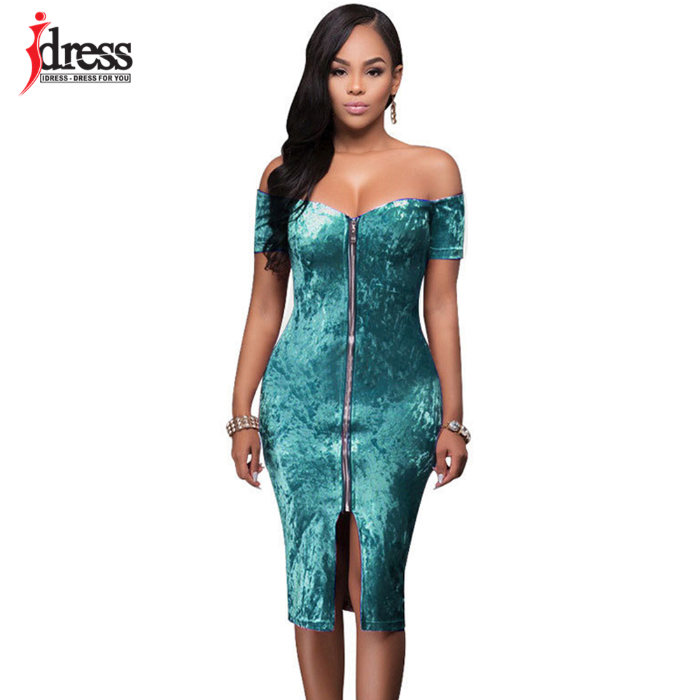 IDress Sexy Club Party Dresses White/ Black/ Blue/ Purple Winter Off ...