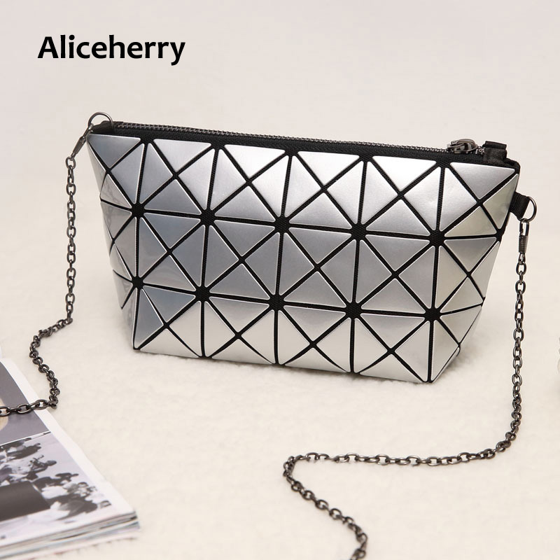 Aliceherry Famous Bao Bao bag Diamond Lattice Fold Over mini BagsFeminine Clutch Handbag Chain Shoulder Bag