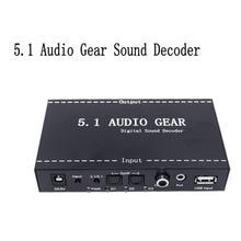 5.1 Gear Sound Decodificador de Audio Digital Audio Converter Gear Surround Sound de Rush Decoder Para Reproductor de DVD #233521