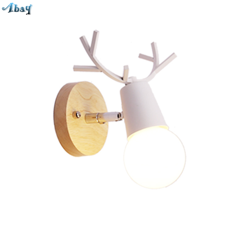 Latest Collection Of Nordic Deer Wall Lamp Loft Decor Indoor Lighting Christmas Kid Lights Childrens Room E27 Led Living Room Stand Lamp Shades Led Indoor Wall Lamps Led Lamps