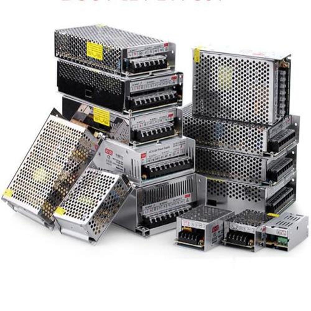 Adaptateur de commutateur AC 110 V 220 V à cc 5 V, 12 V, 24 V, 1a, 2a, 3a, 5a, 10a, 15a, 20a, 30a, 50a, pilote LED d'alimentation bande lumineuse |