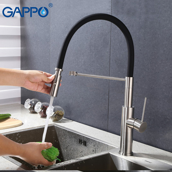 Gappo kitchen Faucets black pull out kitchen drinking faucet waterfall kitchen faucet deck mounted sink mixer tap dfrkjhre