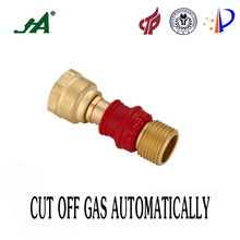 JA8002 Free Shipping Gas-Appliance Hook-Up Kit 1/2 Female Thread x Male Energy Conversation Gas Safety Valve