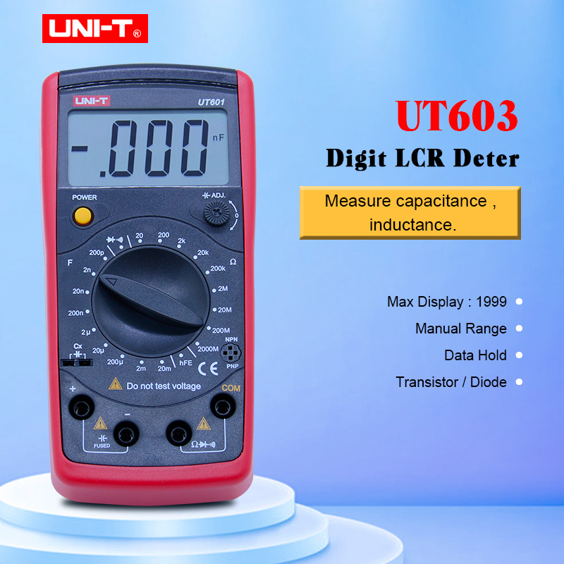 UNI T UT603 Modern Resistance Inductance Capacitance Meters Testers LCR Meter Capacitors Ohmmeter w hFE Test