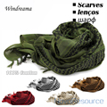 100% Cotton Scarf, Men Women Arab Muslim Shemagh Military Hijab Scarves, High Quality Good Gift