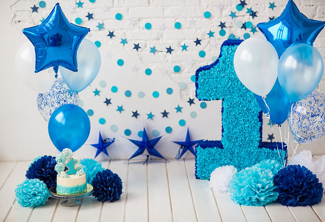 MEHOFOTO Boy 1st Birthday Balloons Flowers Smash Cake Photography Background Customized Photographic Backdrops For Photo Studio In From Consumer