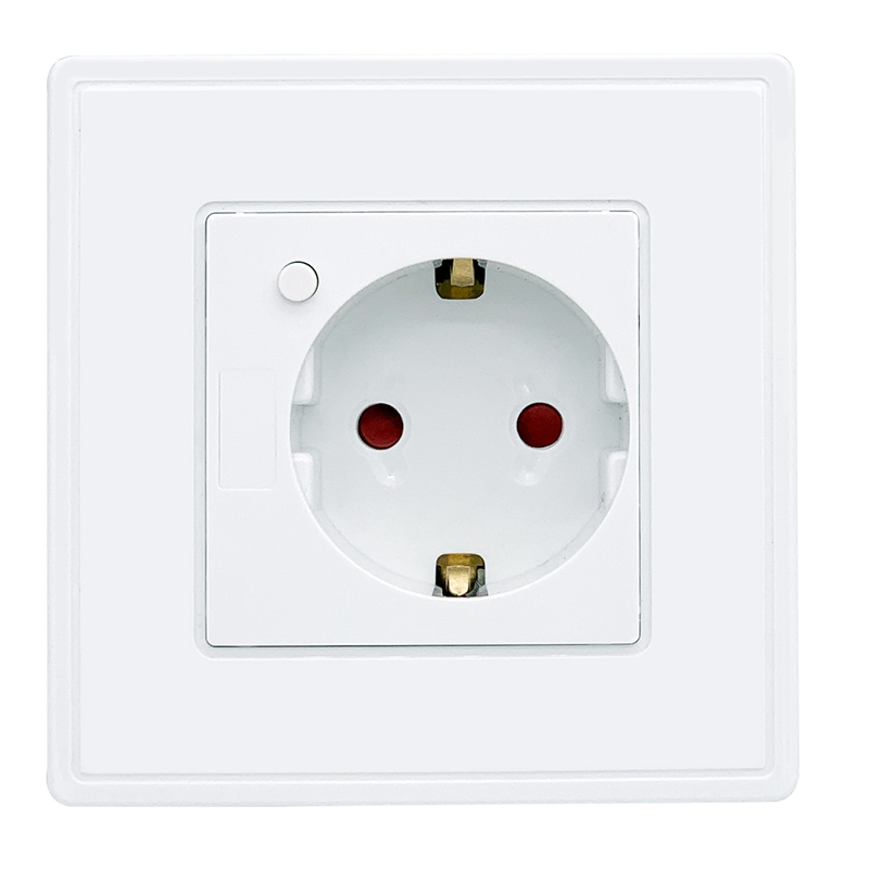 Eu Standard Power Plug Socket , White Plastic Pc Panel, Ac 90~250V 10A Wall Outlet Kitchen SocketEu Standard Power Plug Socket , White Plastic Pc Panel, Ac 90~250V 10A Wall Outlet Kitchen Socket