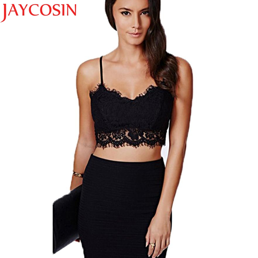 JAYCOSIN Women Translucent Underwear Sheer Lace Condole belt Strap Lingerie Bra Tops hot  Drop Shipping