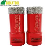 SHDIATOOL 2pcs Dia 25mm M14 Thread Vacuum Brazed Diamond Drill Core Bits Drilling Bits Tile Hole Saw Diamond Drill Bit Crown