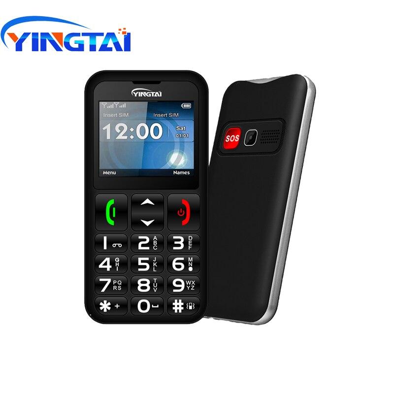 Image 2 - YINGTAI T11 Elder Cellphone best feature senior phone 2.2 inch FM  Torch speed dialSOS big Push Button Speaker Russian Keypad  GSMCellphones
