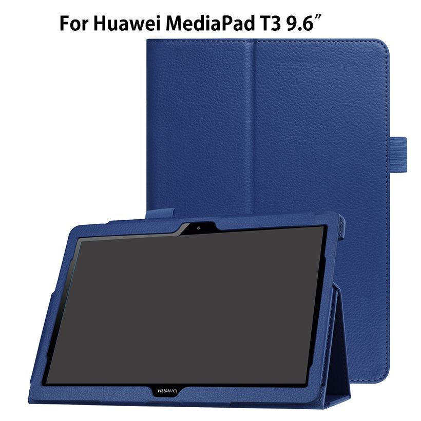 Ultra Slim Case For Huawei MediaPad T3 10 AGS-L09 AGS-L03 9.6 inch Cover Funda Tablet for Honor Play Pad 2 9.6 Stand PU Case case for huawei mediapad t3 10 ags l09 ags l03 9 6 inch cover funda tablet for honor play pad 2 9 6 cover case with hander strap