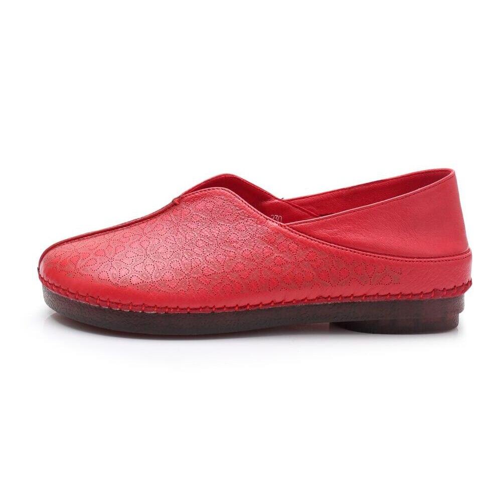 Casual Donne Scarpa Di Handmade Genuino Appartamenti Donna il rosso Reale Confortevole Nero Mujer Femminile Giallo colore Solido Del Basse Zapatos Mocassini Scarpe Cuoio Beige De 0nfO6Z6W