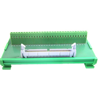 IDC60P male socket to 60P terminal block breakout board adapter PLC Relay terminal station DIN Rail Type
