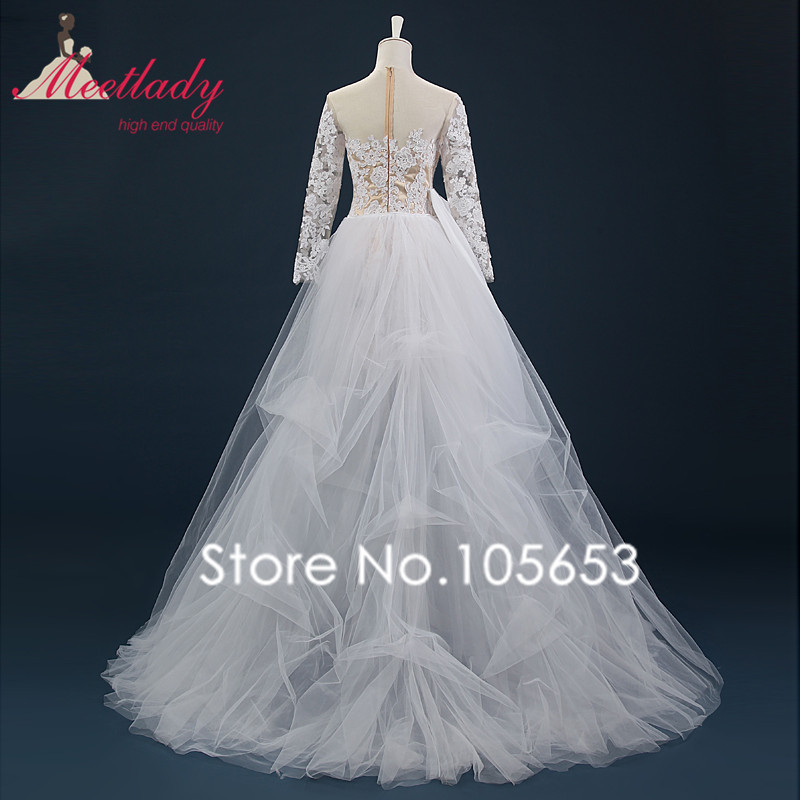 Leeymon Short Wedding Dress 2019 Long Sleeves Lace Wedding Gown Detachable  Train Bridal Gowns Real photo A214-in Wedding Dresses from Weddings    Events on ... e9bee62f8e06