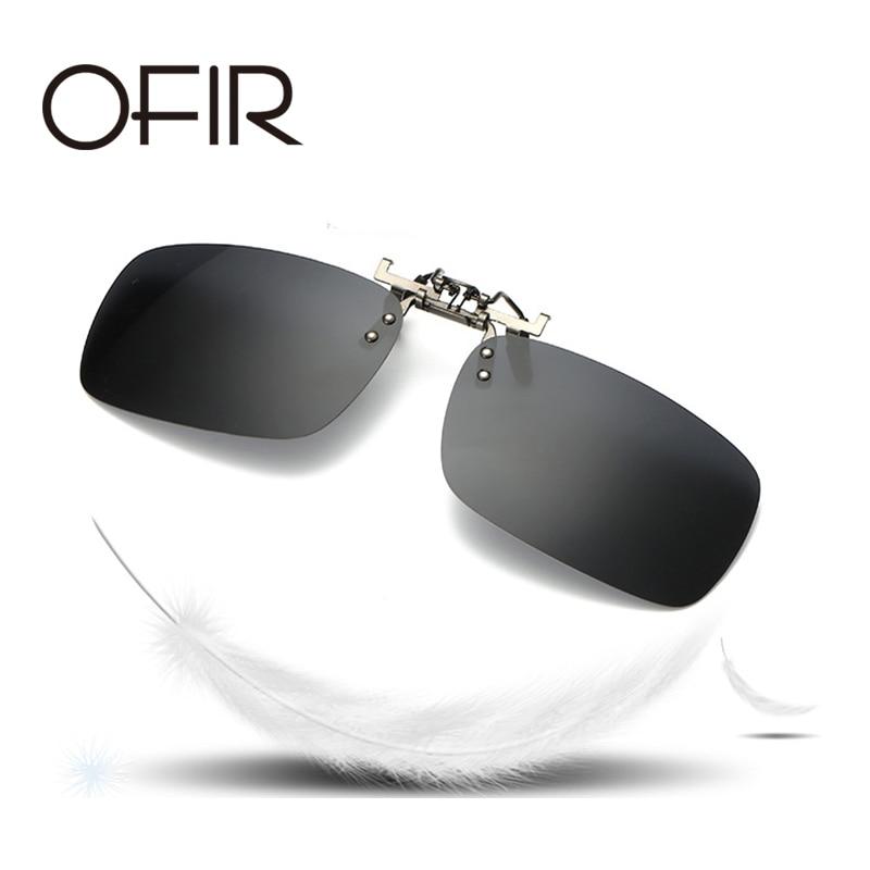 OFIR Multi Colors Mens Sunglasses Polarized Clip On Myopia Women Square Frame Flip Up Sun Glasses Lens Male Driving Goggles