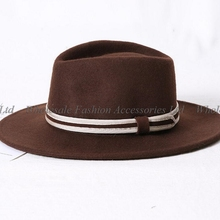 6 piezas de los nuevos hombres marrón de fieltro de lana pura Fedora  sombreros de invierno de las mujeres rojo sombreros sombrer. 22a0728fa2a