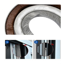 10m(5m/bag) 9mm*15mm 3M Self Adhesive Black Window Door Seal Strips for 7- 13mmWindows and door gap