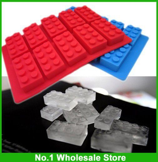 Free Shipping Via FedEx FDA LFGB Ice Mold Silicone Ice Cube Tray Brick Block, 200pcs per lot