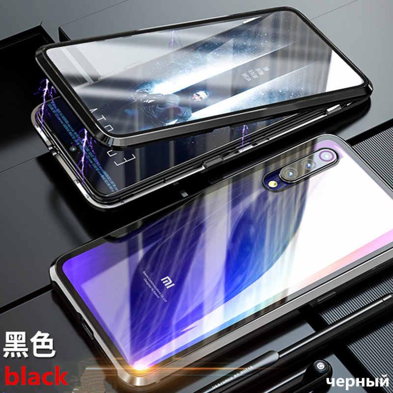Магнитный адсорбционный металлический чехол для телефона Xiaomi Redmi Note 7 5 6 Pro 6A mi 9 8 lite mi 9 SE POCO F1 закаленное стеклянный магнит крышка.