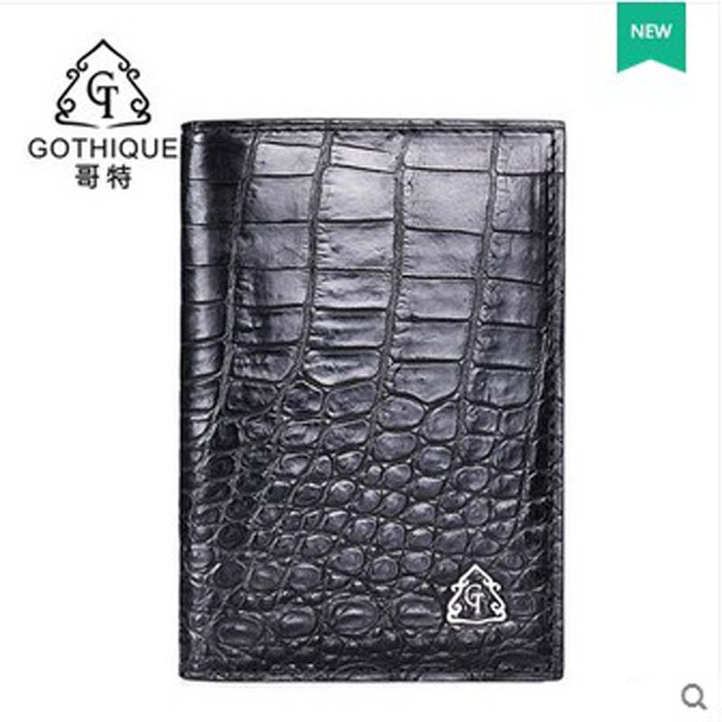 gete 2017 new hot free shippiing Siamese crocodile skin belly more screens card package business card clip card bag  men wallet maibomengnuo authentic crocodile skin wallet belly belly fashionable contracted men thin money clip upright money
