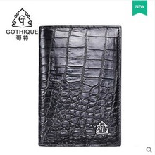 gete 2017 new hot free shippiing Siamese crocodile skin belly more screens card package business card clip card bag  men wallet