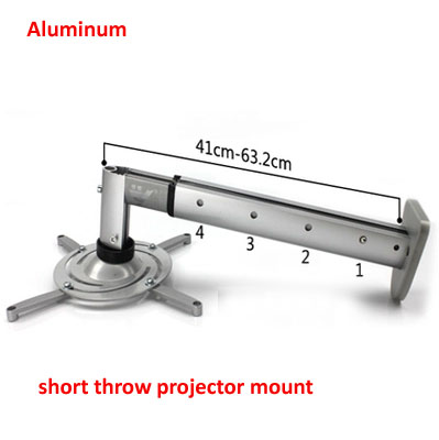DL-PM212 high quality aluminum short throw tiltable ALUMINUM universal projector bracket wall mount rack цены