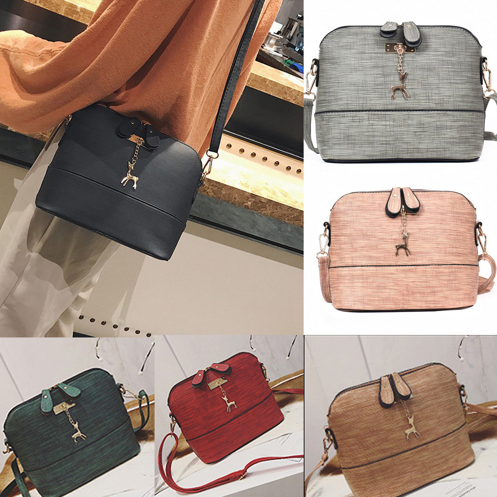 Womens Fashion Dating  PU New Messenger Bags Vintage Small Shell Versatile Leather Handbag Casual Packet  x# dropship