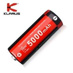 KLARUS قابلة للشحن ليثيوم أيون 3.7 فولت 5000 مللي أمبير 26650 بطارية ل مصباح ليد جيب ، حماية متعددة