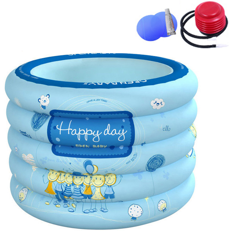 Baby Swimming Pool Portable Kids Bath Tub 100x75cm Inflatable Baby Mini-playground Children Eco-friendly PVC Pond inflatable baby swimming pool eco friendly pvc portable children bath tub kids mini playground newborn swimming pool bathtub